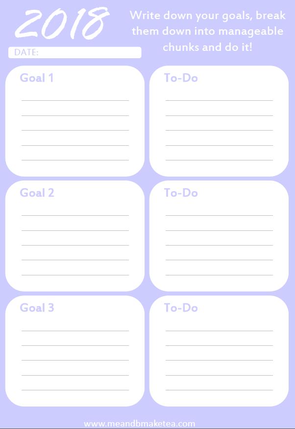 Download Blog Goal Organizer in Purple