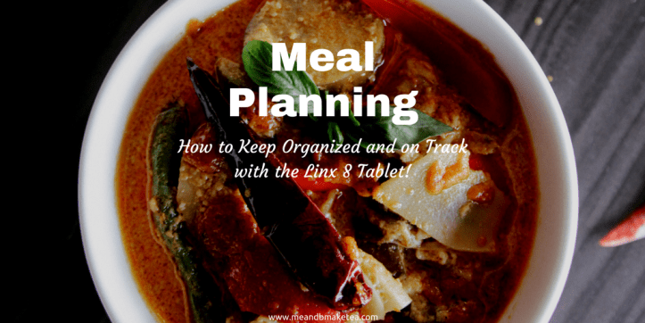meal planning and keeping organized twitter