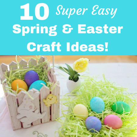 10 Easy Easter and Spring Crafts to do With Kids paper and fabric