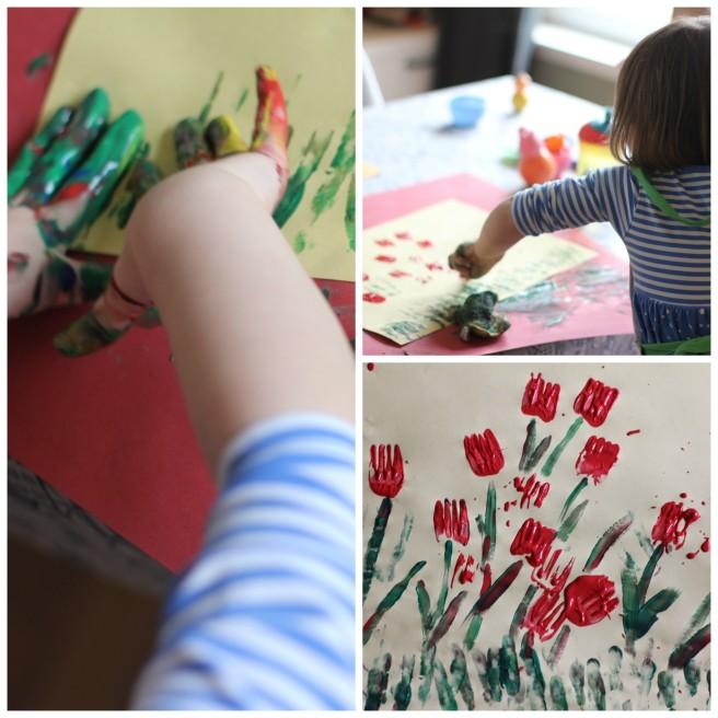 spring easter craft ideas for kids fork flowers for kids