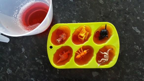 dinosaur ice egg sensory play ideas