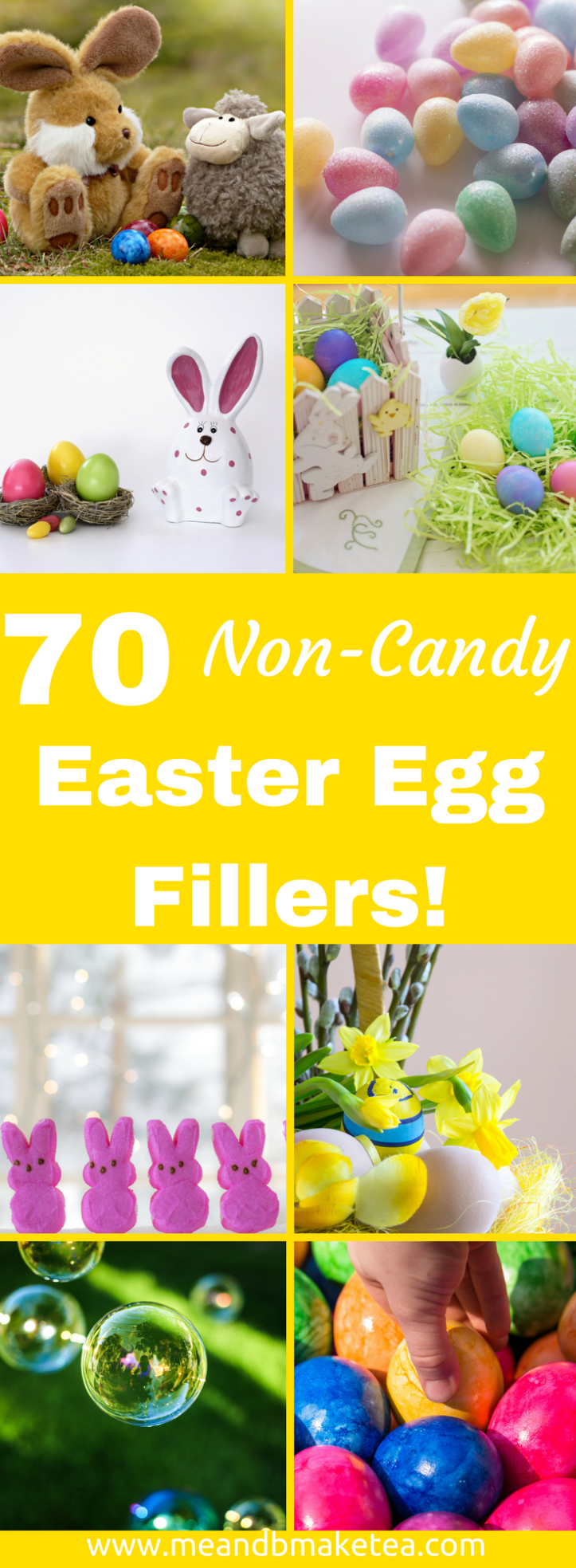 70 Non-Candy Plastic Easter Egg Fillers for Kids that are cheap and easy pinterest thumbnail