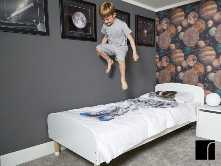 space themed kids bedroom ideas and easy decor