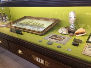 The SS Great Britain and Being Brunel - Why You Should Take the Kids display cabinet at the brunel museum