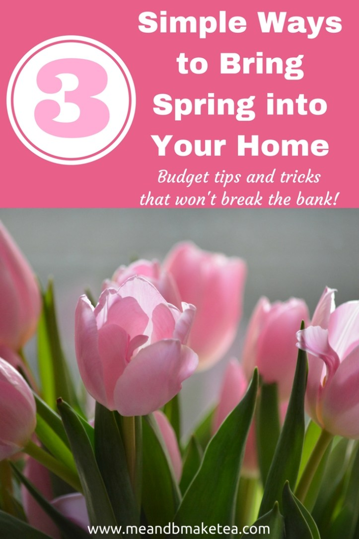 3 Really Simple Ways to Bring Spring into Your Home! Budget tips that won't break the bank!