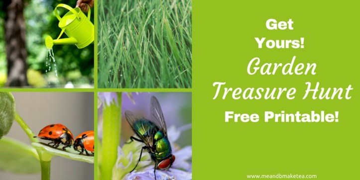garden scavenger hunt and treasure hunt trail