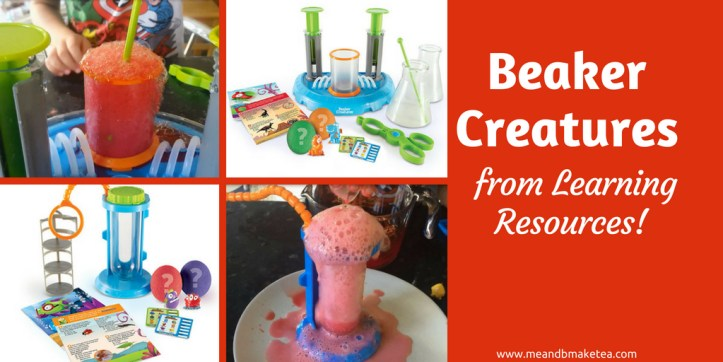 Beaker creatures from Learning Resources - review of this science STEM toy