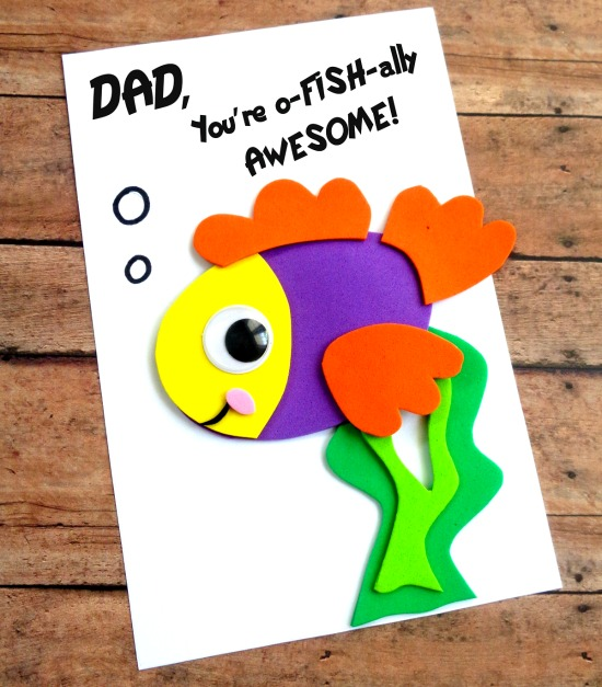 Father's Day Crafts to Make With Kids diy fish card