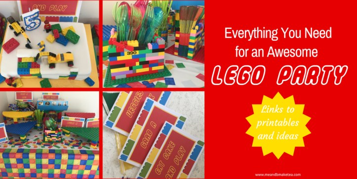 Everything you need for an awesome lego themed party (1)