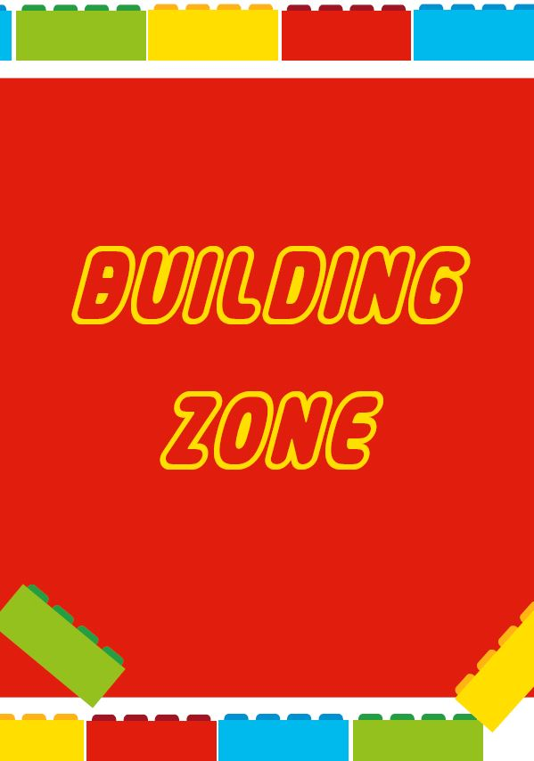 building zone free lego party printable