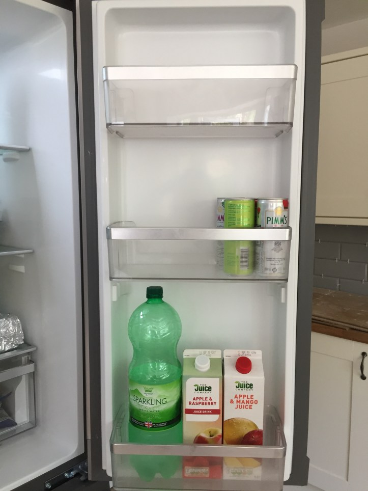 Hotpoint Active Quattro HQ9B1L American Fridge Freezer review door balcony