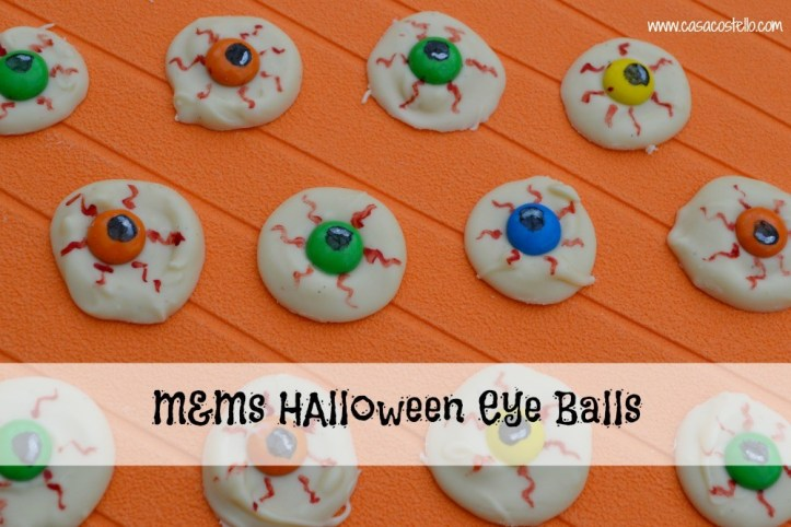 super easy sweet treats, cookies, and recipes for halloween - eyeballs