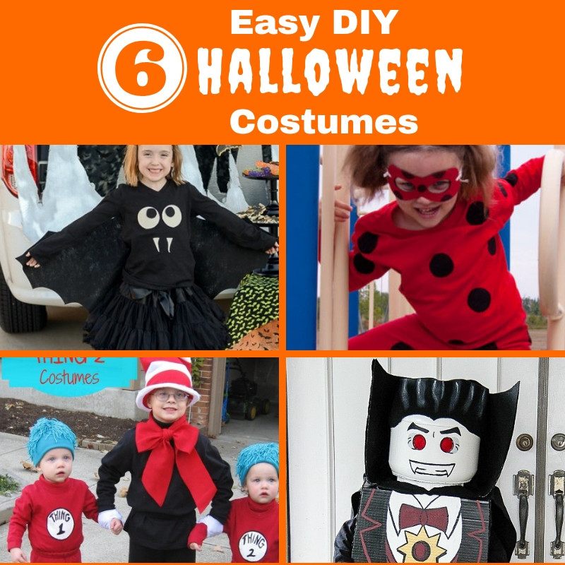 6 Easy DIY Halloween Costumes for Kids | me and b make tea
