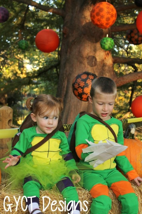 DIY teenage mutant ninja turtle fancy dress costume for halloween