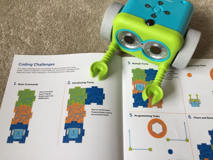 Botley Coding Robot challenges and accessories