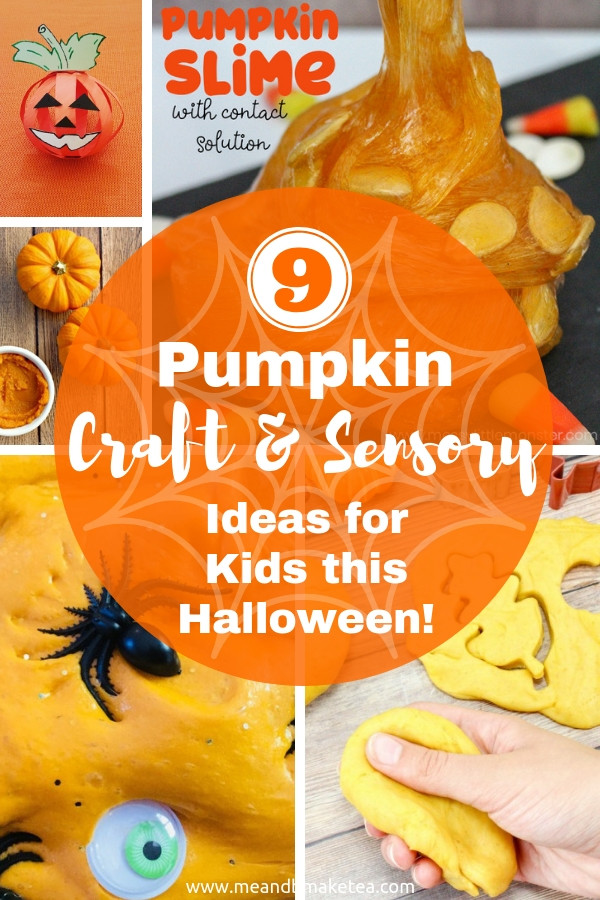 Pumpkin Craft and Sensory Ideas for Kids to try at home this Halloween, autumn and fall.