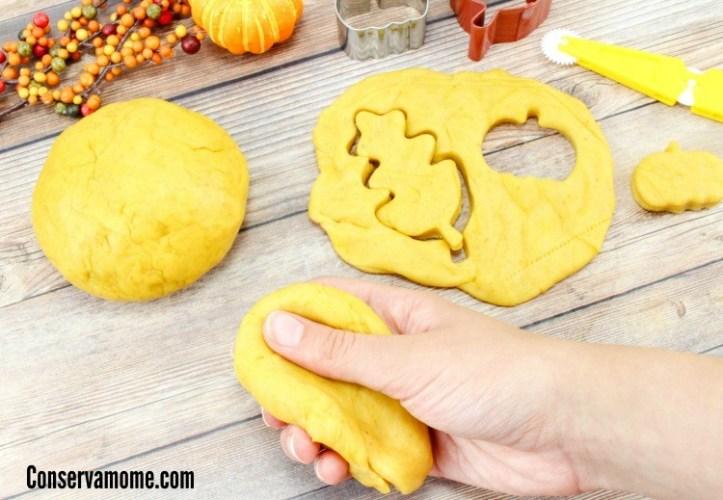 Edible Pumpkin Play-Dough