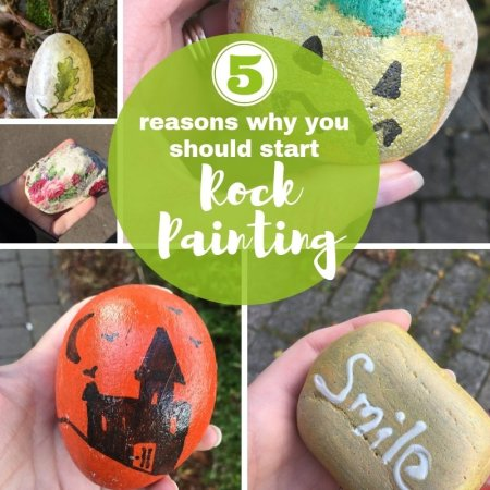 rock painting ideas using pens and paint