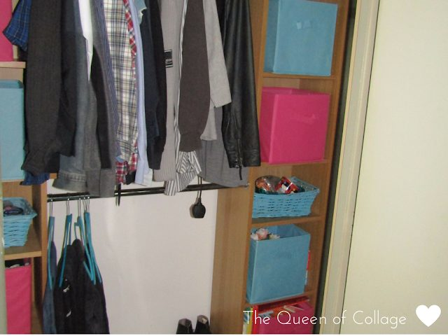 clothes organization using dividers, drawers and baskets for storage
