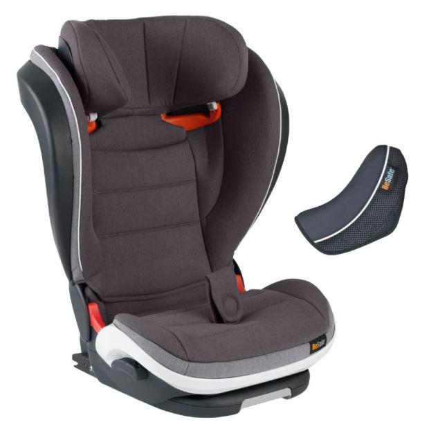 besafe isize car seat with extra seat belt cushion pad
