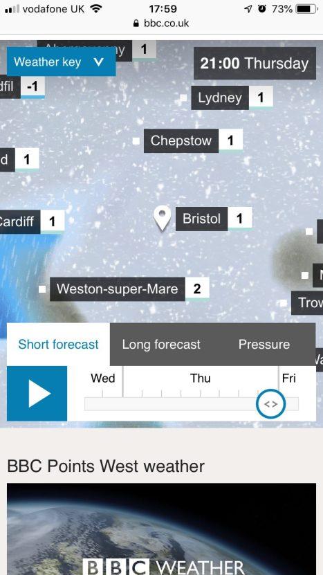 snow predicted in bristol february 2019
