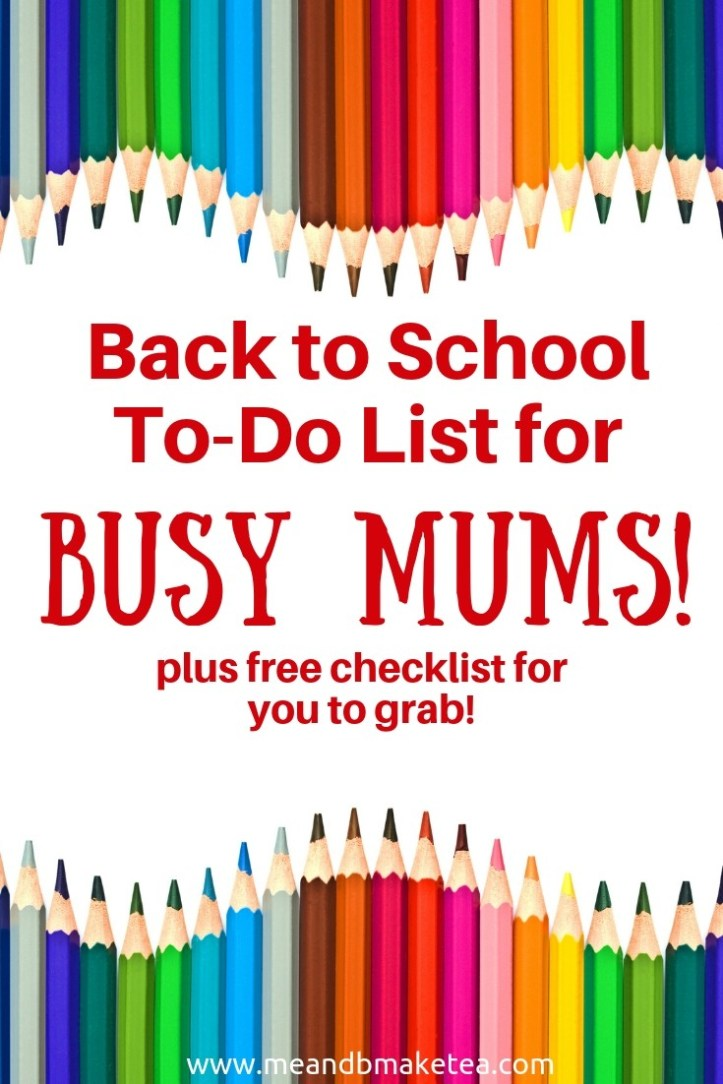 """9 Essential """"Back to School"""" To-Dos - Plus a Free Checklist!"""
