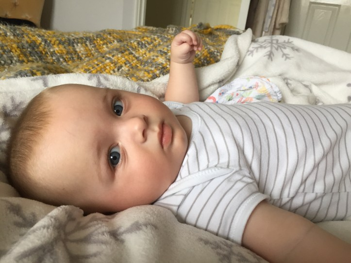 baby lewis at five months