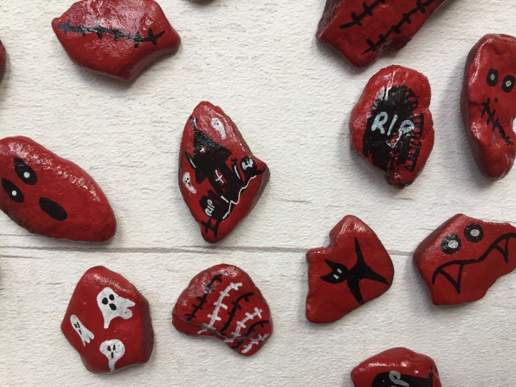 halloween-rock-painting-ideas-using-napkin-decoupage-red-doodles