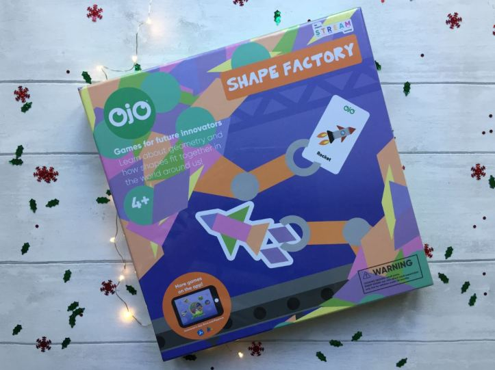 OjO Shape Factory Geometry Board Game in box