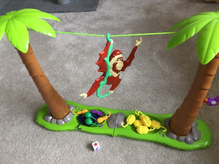 monkey hanging on vine in orangutwang game