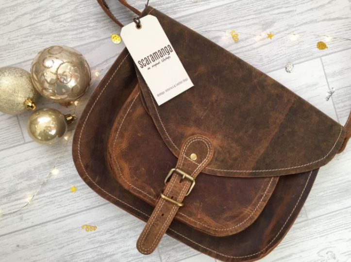 scaramanga leather saddle bag for gift guide review
