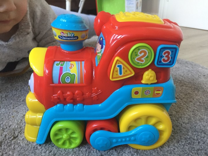 Clementoni Activity Train review - close up of toy train