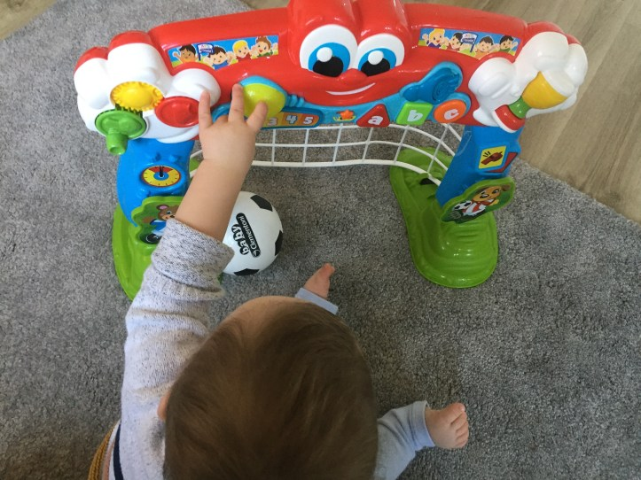 Baby Clementoni football goal toy review -baby playing
