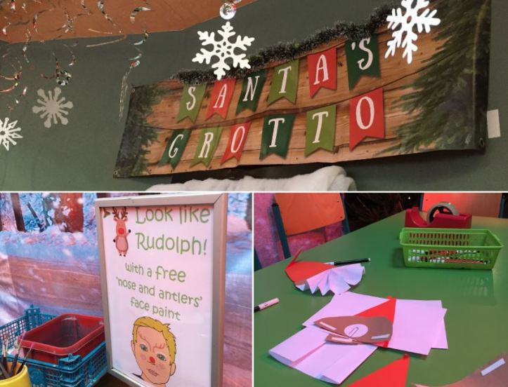 bristol zoo garden review - activities in santas grotto