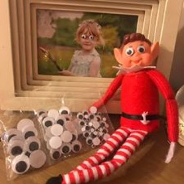 elf on shelf googly eyes on photo