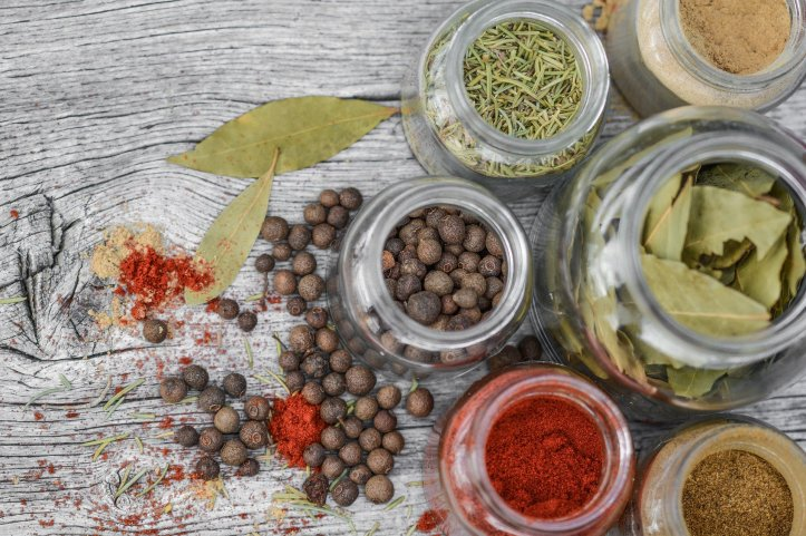 mix of spices and herbs used in vegan and plant based cooking