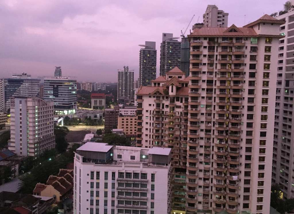 Cityscapes of Kuala Lumpur at dawn