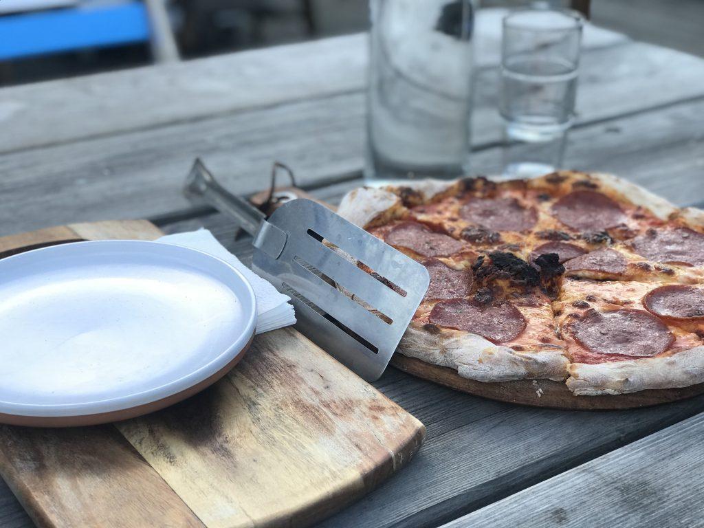 Pizza at Bomba Gelato, Lyttelton