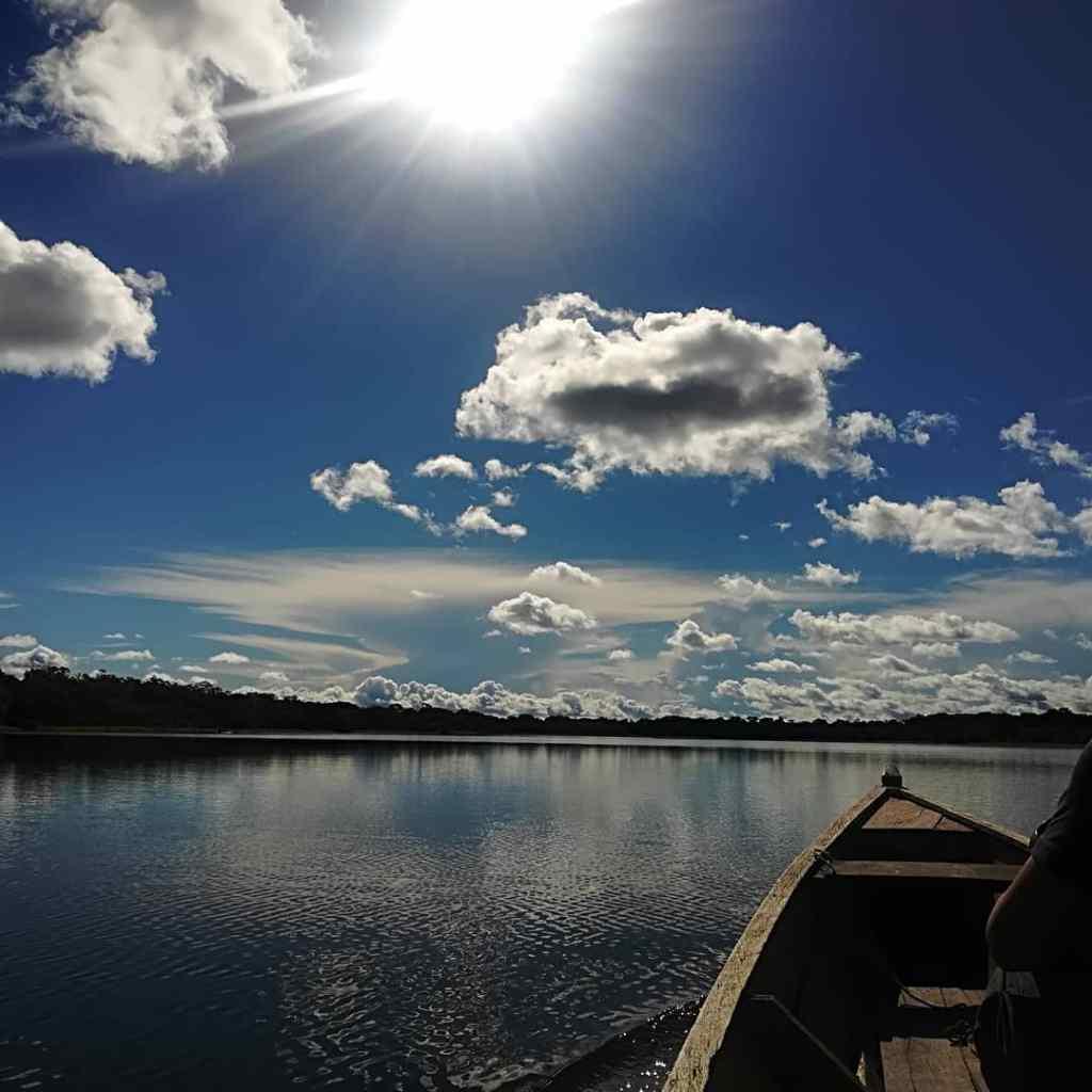 Canoe on the Amazon lakes