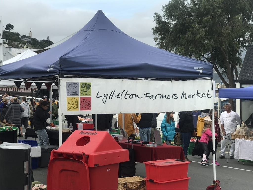 Lyttelton Market every Saturday