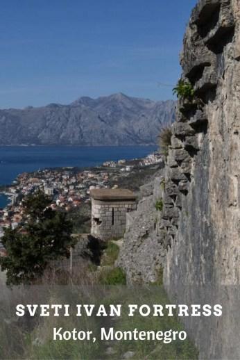 Sveti Ivan Fortress in Kotor, Montenegro