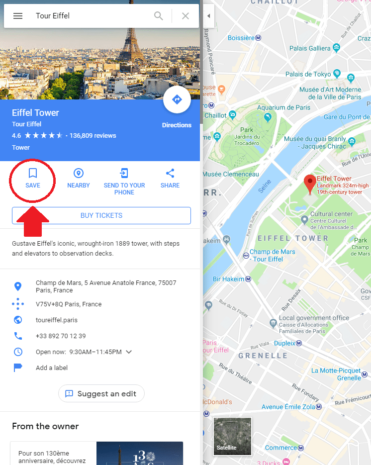 Dropping Pins in Google Maps 4