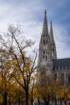 A beautiful gothic church in Vienna Austria