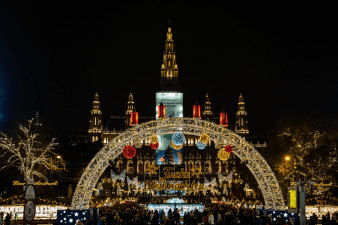 A view of the Christmas scene Vienna Austria