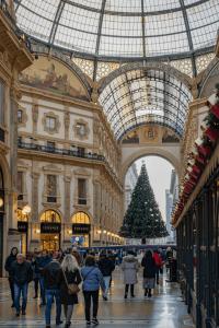 The Galleria Vittorio Emauele II in Milan Italy