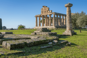 Temple of Athena in Paestum Italy