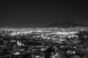 A look at the beautiful city of Naples Italy at night