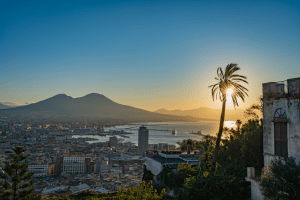 A beautiful look at the city of Naples Italy from above