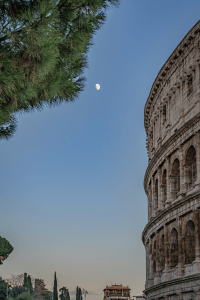 The Roman Colosseum in Rome Italy