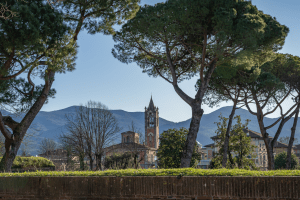 A view of the beautiful Lucca Italy